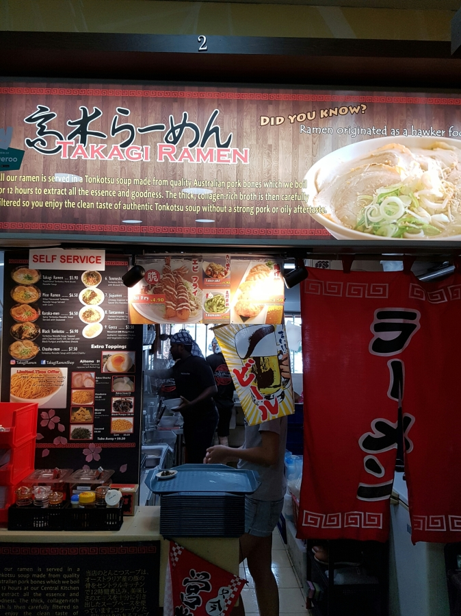 Takagi Ramen, the localised Japanese ramen in Singapore